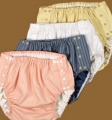Ochranné inkontinenční kalhotky PVC DUO ZAPÍNACÍ nízké