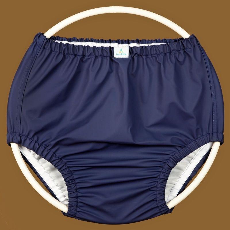 Ochranné inkontinenční kalhotky POLY FIX vysoké - modrá In-Tex
