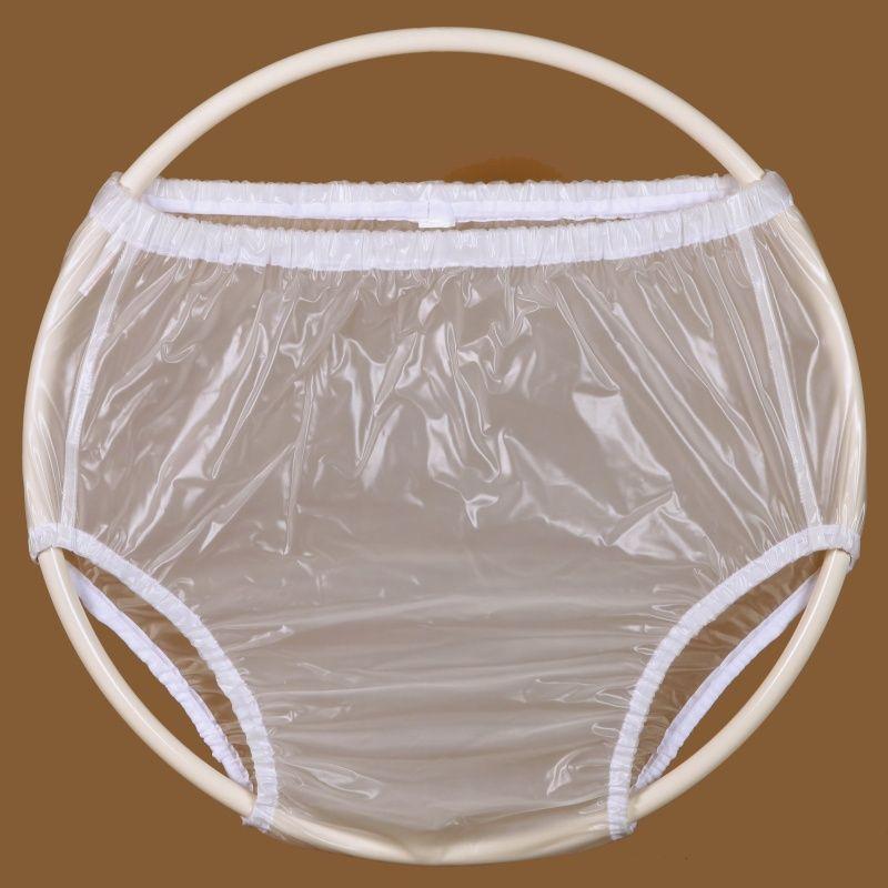 Ochranné inkontinenční kalhotky PVC 2G vysoké - transparentní In-Tex