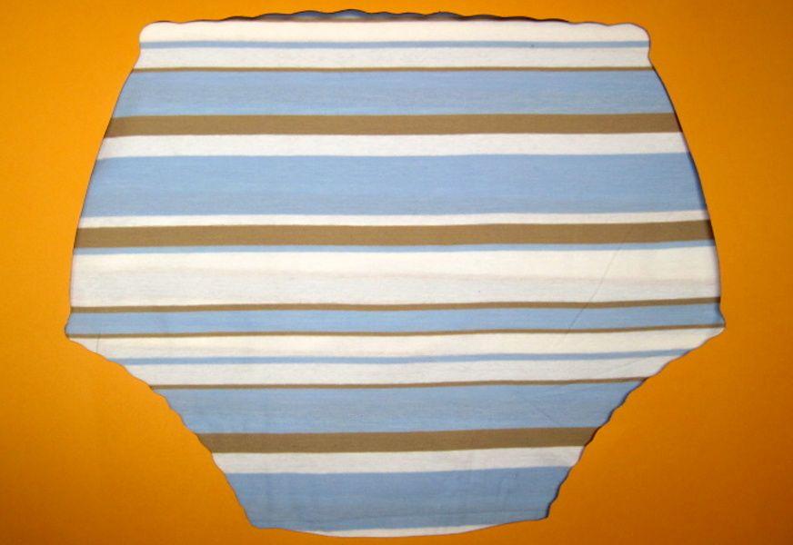 Ochranné inkontinenční kalhotky POLY DUO SAN nízké - 16.úplet s pruhy In-Tex