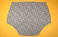 Ochranné inkontinenční kalhotky POLY DUO SAN nízké - 6.bílý prádlový úplet s kytičkami In-Tex