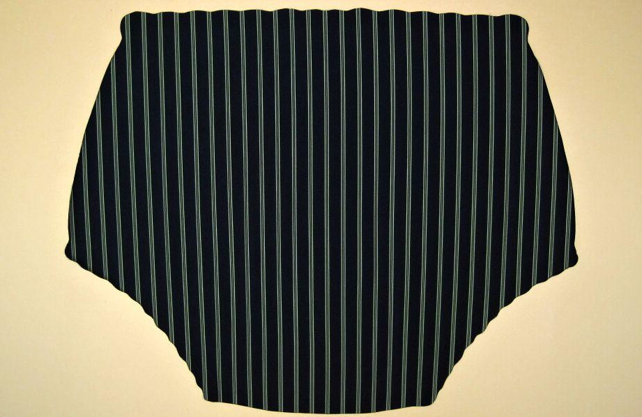 Ochranné inkontinenční kalhotky POLY DUO SAN nízké - 8.černý prádlový polyamid s proužky In-Tex