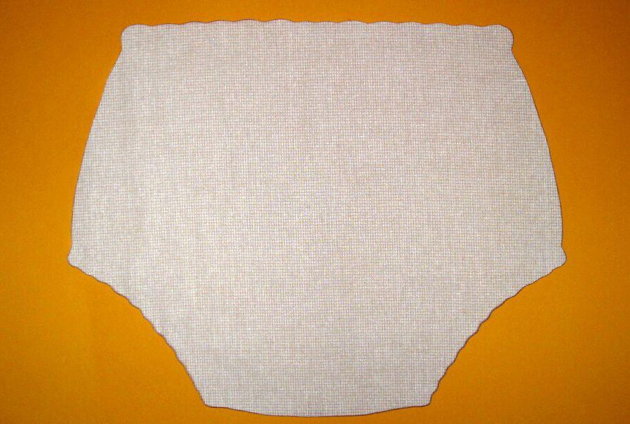 Ochranné inkontinenční kalhotky POLY DUO SAN ZAPÍNACÍ vysoké - 15.jemné plátno žluté drobné čtverečky In-Tex