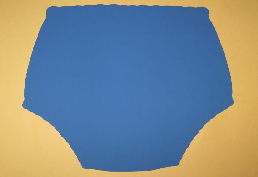 Ochranné inkontinenční kalhotky POLY DUO SAN ZAPÍNACÍ nízké - modrá (odstín modré se může mírně lišit) In-Tex