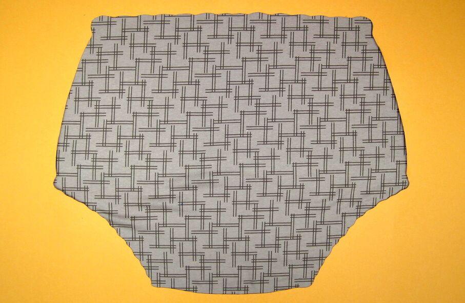 Ochranné inkontinenční kalhotky POLY DUO SAN ZAPÍNACÍ slip - 7.hnědý úplet s tiskem In-Tex