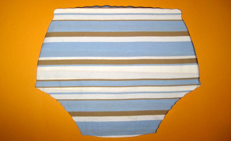 Ochranné inkontinenční kalhotky PVC DUO vysoké - 16.úplet s pruhy In-Tex