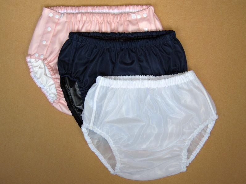 Ochranné inkontinenční kalhotky PVC DUO ZAPÍNACÍ střední - 22.růžový dederon In-Tex