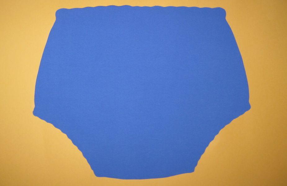 Ochranné inkontinenční kalhotky PVC DUO ZAPÍNACÍ střední - 4.modrá tričkovina In-Tex