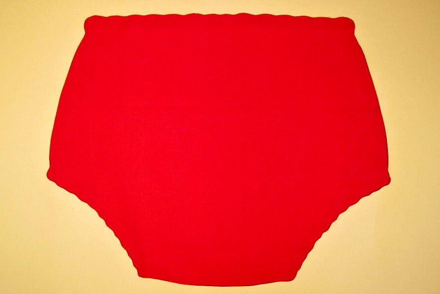Ochranné inkontinenční kalhotky PVC DUO ZAPÍNACÍ střední - 11.plátno červené In-Tex