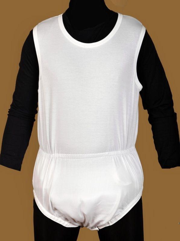 Body pro inkontinenci KLASIK bez rukávů, v pase guma In-Tex