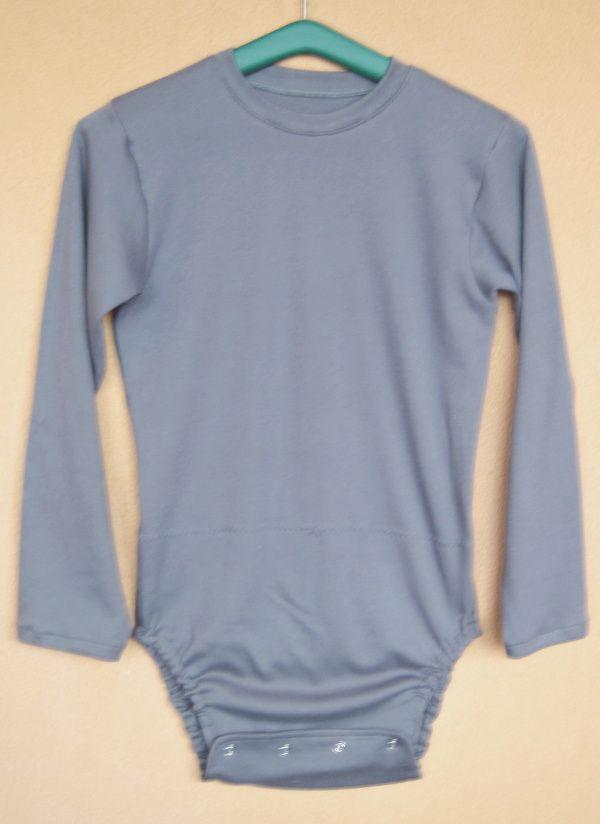 Body pro inkontinenci KLASIK - dlouhé rukávy - 2.šedá tričkovina In-Tex