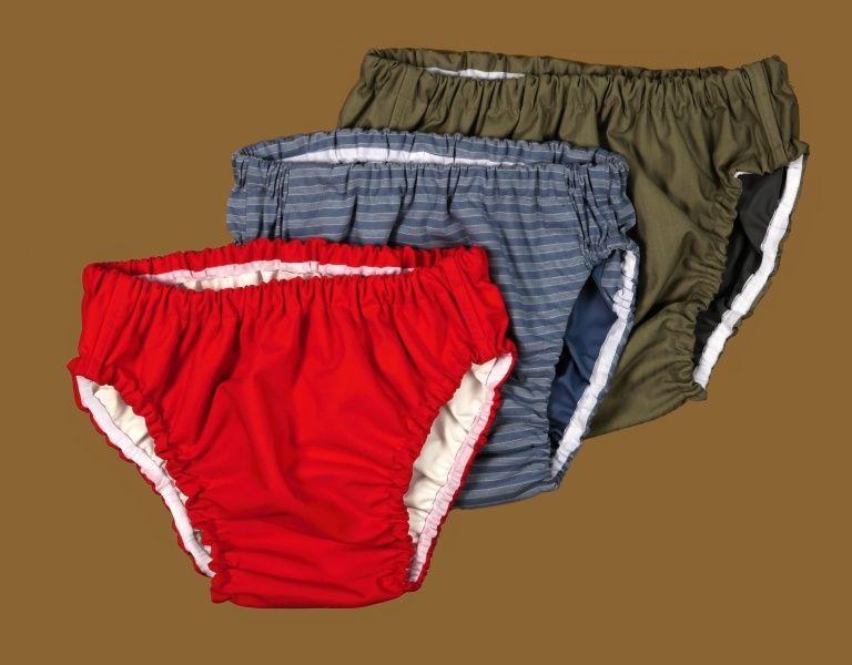 Kalhotky Poly DUO, 3 nízké, červené In-Tex