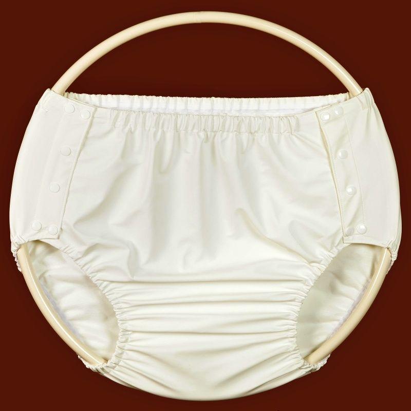 Ochranné inkontinenční kalhotky POLY DUO SAN ZAPÍNACÍ, bílé, vel.2 střední In-Tex